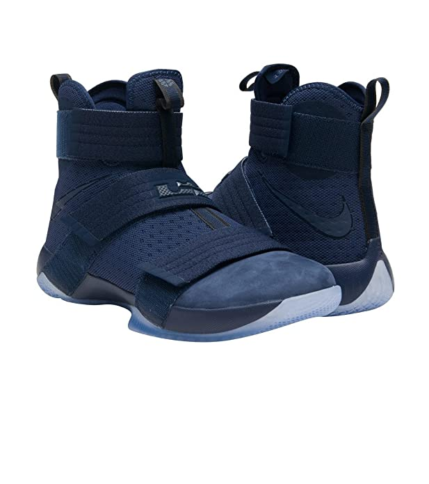 4a4c1e57b59 Nike Men s Lebron Soldier 10 SFG Basketball Shoes-Navy-9.5  Buy Online at  Low Prices in India - Amazon.in