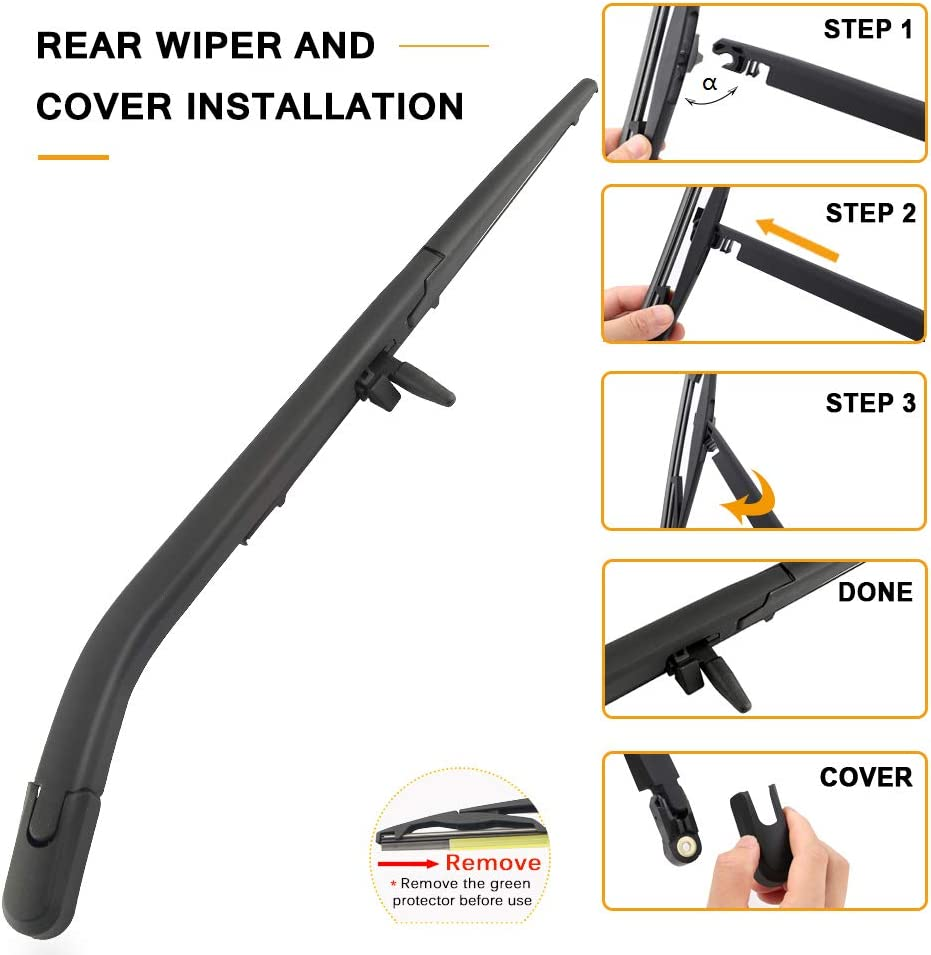 AUTOBOO For Toyota 4Runner 2003-2009 Rear Windshield Wiper Arm With Blade