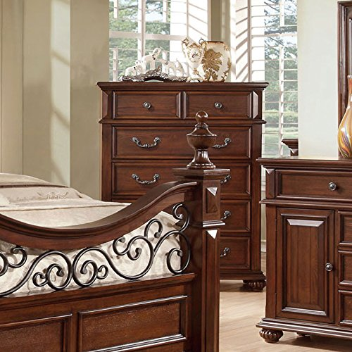 Dark Oak Finish Bedroom Chest - 1