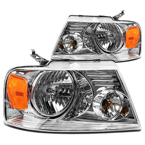 - DNA Motoring HL-OH-F1504-CH-AM Headlight Assembly, Driver and Passenger Side