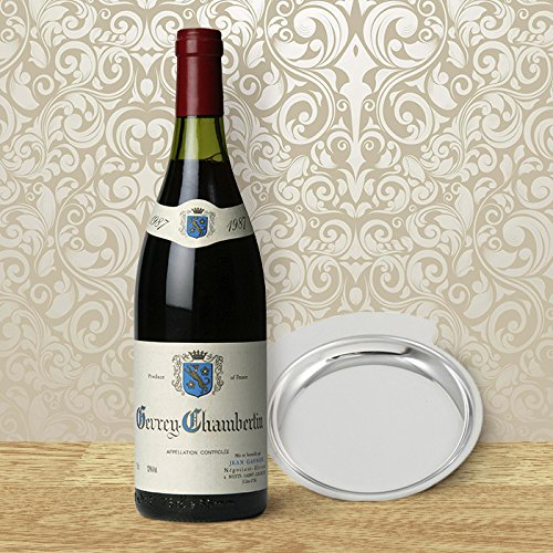 Personalized Chrome Plated Wine Bottle Coaster/Change Tray