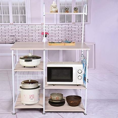 Kitchen Wire Shelving Microwave Oven Baker's Rack Utility Shelf ...