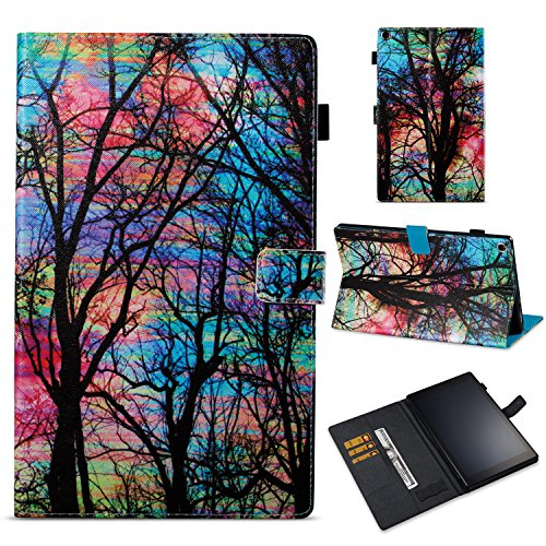 Fire HD 10 Wallet Case case,Stingna Birds Butterfly Pattern Diamond Bling PU Leather Smart Cover with Card Slots Pocket Wallet Pouch For 2017 New Amazon Fire HD 10 (02)