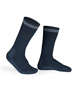 Kodiak - Mens Crew Socks 2 Pair Pack, Style 1683 - Blue with Black Accents