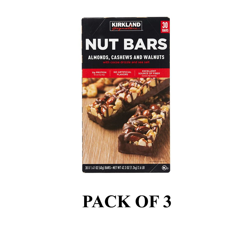 Kirkland Signature Nut Bars 1.4 oz, 30-count (Pack of 3)