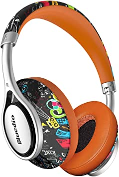 Amazon Com Vowor A2 Air Bluetooth Headphones Over Ear 3d Stereo Chinese Style Stylish Wireless Headset With Microphone Fashionable And Foldable Surround Sound For Pc Cell Phones Long Standby Graffiti Home Audio