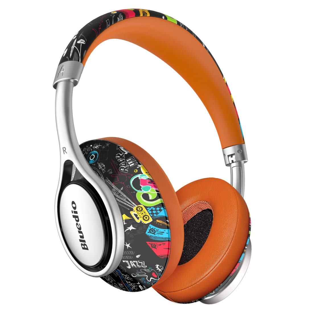 Vowor A2 (Air) Bluetooth Headphones Over Ear 3D Stereo Chinese Style Stylish Wireless Headset with Microphone, Fashionable and Foldable, Surround Sound for PC & Cell Phones Long Standby (Graffiti)