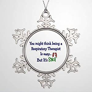 BYRON HOYLE Xmas Trees Decorated Funny Respiratory Therapy Present Ornaments Christmas Christmas Snowflake Ornaments Xmas Decor Wedding Ornament Holiday Present
