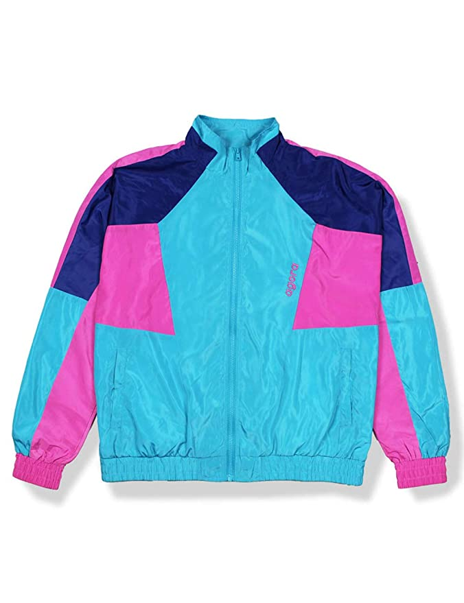 Vintage Coats & Jackets | Retro Coats and Jackets AGORA Multi-Colour Windbreaker Jacket $39.99 AT vintagedancer.com
