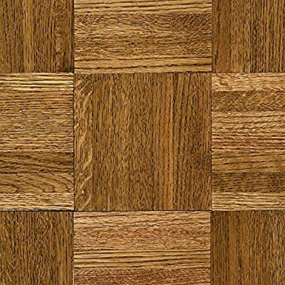 Natural Oak Parquet Spice Brown 5/16 in. Thick x 12 in. Wide x 12 in. Length Hardwood Flooring (25 sq. ft. /case)