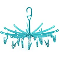 Foldable Round Shape Clip and Drip Clothes Hanger Hanging Dryer Clothespins Underwear Socks Drying Hanger