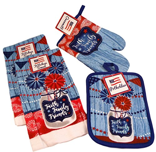 Patriotic Kitchen Dish Towel Gift Set -