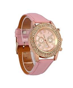 UPLOTER 2018 Quartz Analog Crystal Dial Ladies Leather Bracelet Wrist Watch