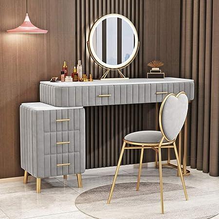 LGFSG Coiffeuse Coiffeuse Chambre Coiffeuse Salon de beauté en Fer