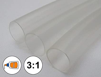 "3//8/"" Clear Heat Shrink Tube 3:1 Dual Wall Adhesive Glue Marine//to 0.375 1 FOOT"