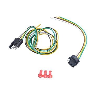 Dolity 4-Wege-Flach Stecker Sockel Anhänger Kabelbaum Adapter / 4 ...