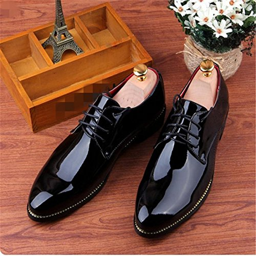 Casual Shoes Pointu Bureau Des Floral Dress Affaires Bling Imprime Noir Design Nouveau Mens qZIw4p