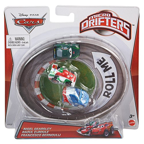 Cars Micro Drifters Nigel Gearsley, Raoul Caroule and Francesco Vehicle, 3-Pack (Micro Drifters Cars compare prices)