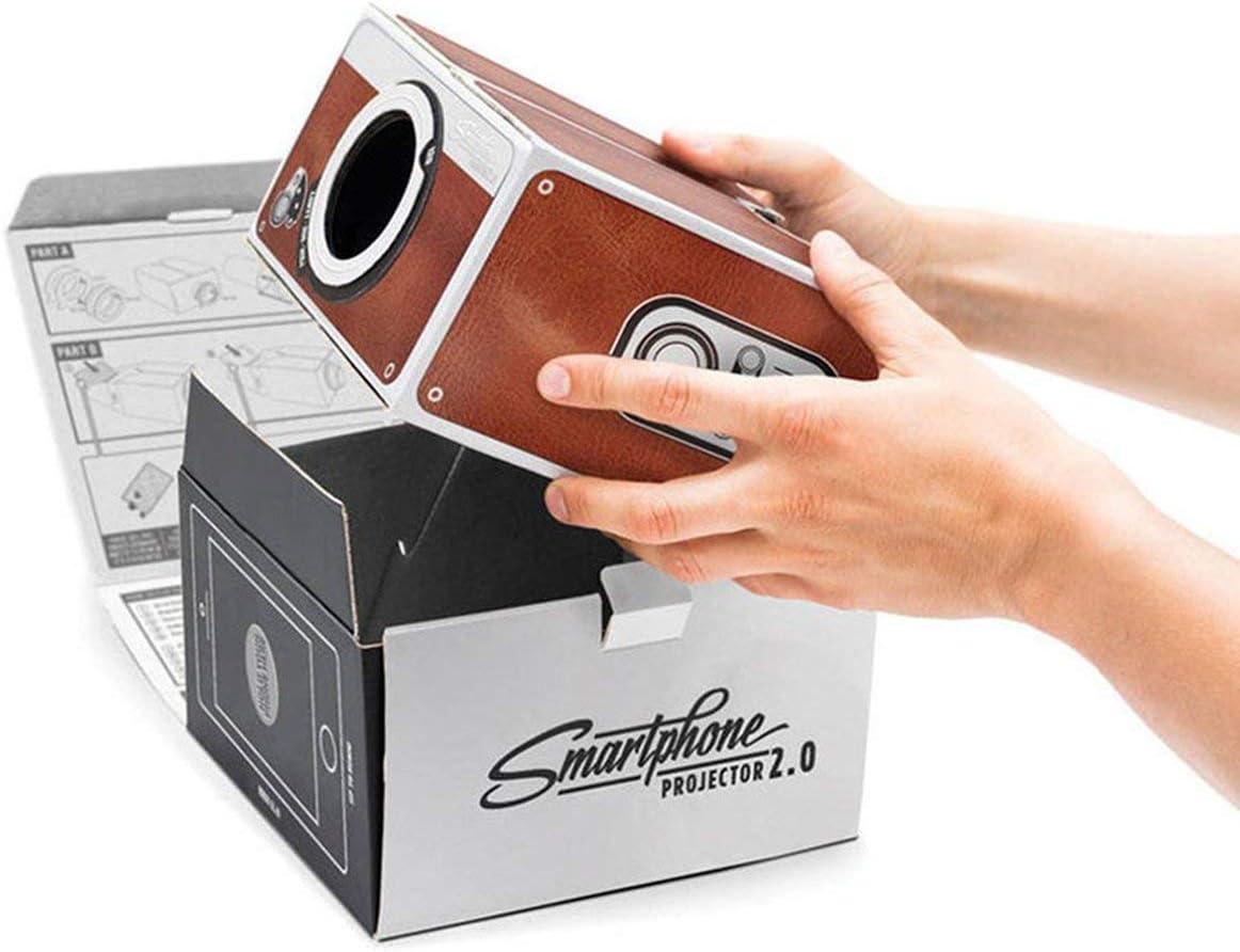 Ballylelly Proyector de teléfono Inteligente de cartón portátil ...