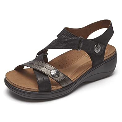 12e19edd632 Image Unavailable. Image not available for. Color  Rockport Cobb Hill  Collection Maisy Cross Band Women s Sandal 10 B(M) US Black