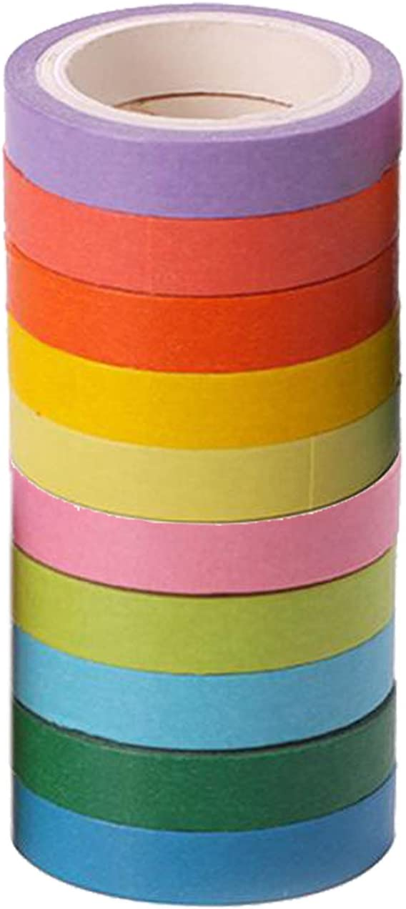 DragonPad Decorative Masking Tape Colorful DIY Scrapbooking Decorative Tape Adhesive Label Sticker Masking Paper Gift Packing White