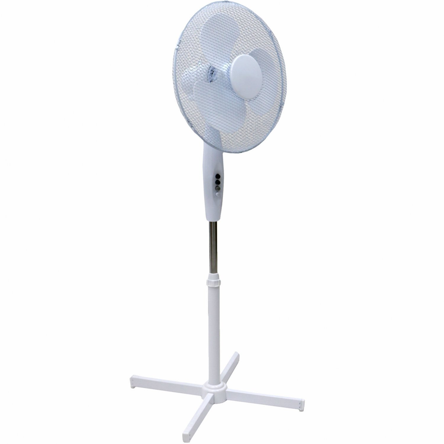 Generic Electrical 16-Inch Oscillating Pedestal Stand Fan, White Squizzas! SQ2444