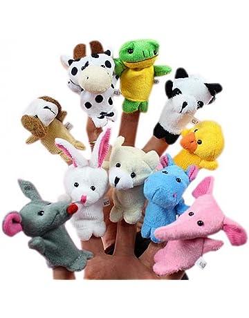Beauty DIY Mart 10pcs Juguetes Marionetas Animales de Dedos Finger Títeres Muñecos Divertido Kawaii para Bebé