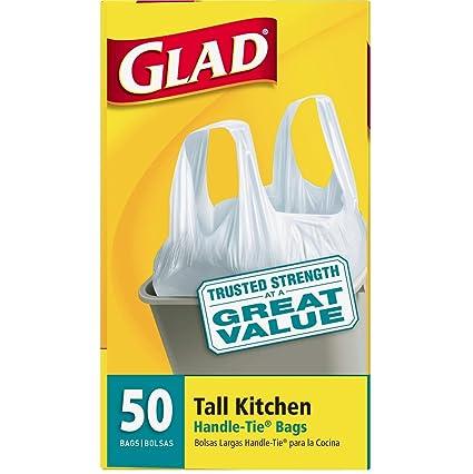 Amazon.com: Glad Tall - Bolsas de basura para manillar de ...