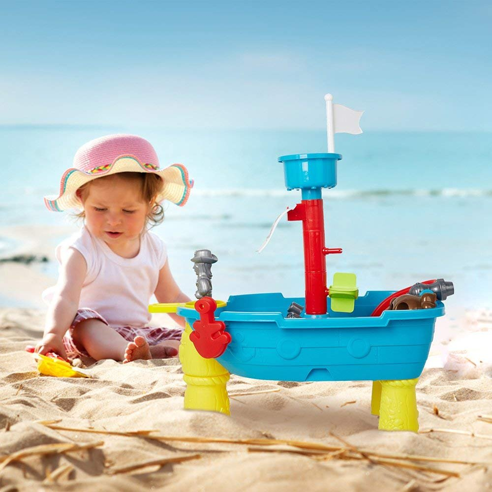 COLORTREE Kids Water Pirate Ship Child Play Table Fun Toy