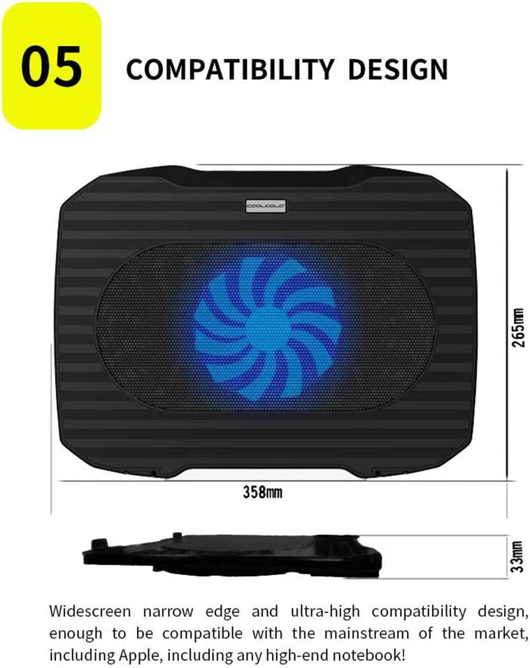 Portable Computer Peripherals for PC MHOL Laptop Cooler USB Fan Cooler Cooling Pad Notebook Cooler