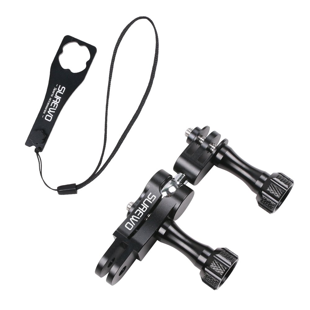 SUREWO Aluminum Ball Joint Mount,Swivel Buckle Mount with Aluminium Wrench Compatible with GoPro Hero 7/(2018) 6 5 Black,4 Session,4 Silver,3+,DJI Osmo Action,YI,Campark,AKASO and More by SUREWO