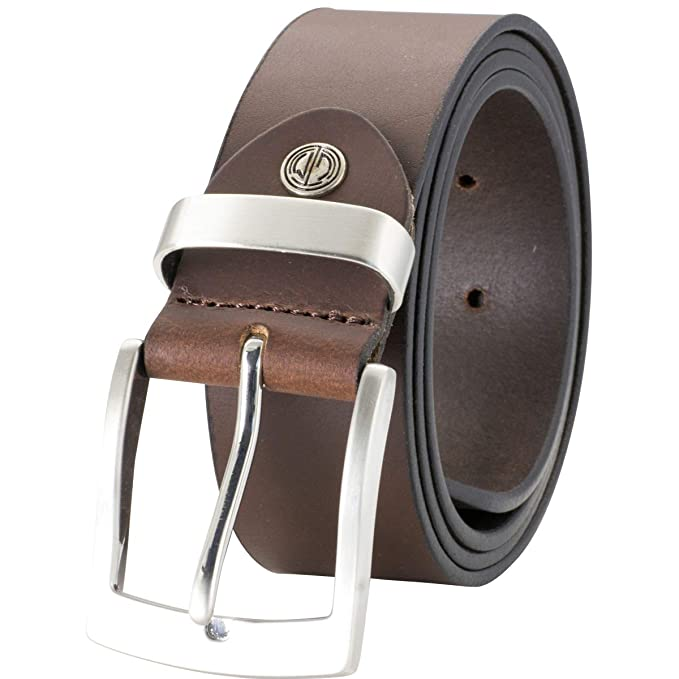 2666fe1cb431 Lindenmann- Hombre cinturón de cuero cinturones hombres mann  Amazon.es   Ropa y accesorios