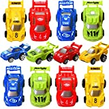 Festivous Wishel 12pcs Pull Back Racing Cars Car Toys Vehicles Playset-Kids Party Favors,Give Away Gifts(Random Color)