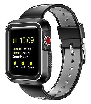 Apple Bracelet de Montre et Portables, Spessn Souple en Silicone iWatch Sangle étanche Sport Bracelet