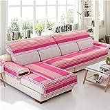 Z&HX Sofa Set Corner Sofa Set 3+2 Seater Hemp,Lattice/Sofa Four Seasons/Wear-Resistant,Anti Dirty/Import,E
