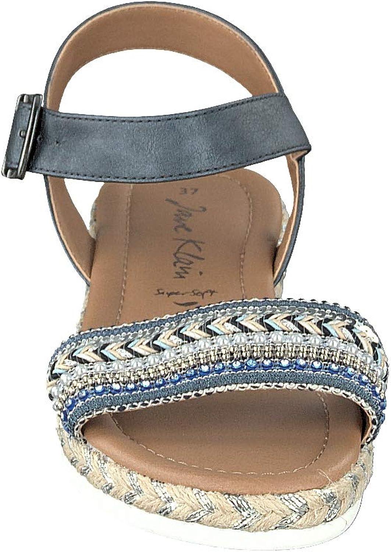 JANE KLAIN 282 411, Sandali con Cinturino alla Caviglia Donna Blu Blue 807