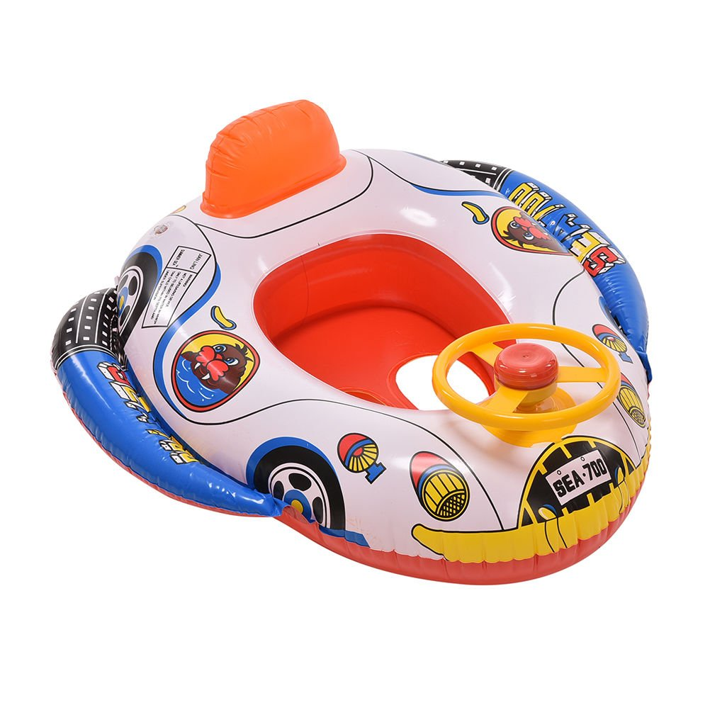 Product details of new inflatable floating swim ring kids children toy - Coscosx Cartoon Baby Swimming Seat Ring Kid Inflatable Car Pool Float Boat Swim Ring Amazon Co Uk Baby