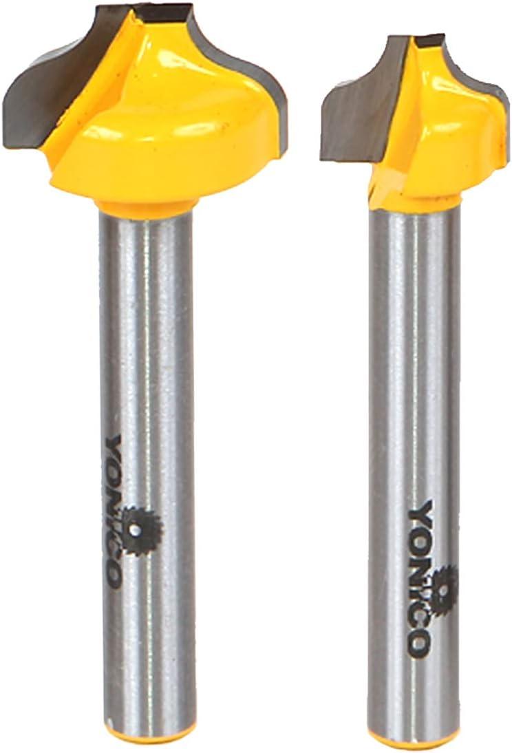 Yonico 14274q 2 Bit Ogee Groove Router Bit Set Cutting Diameters 1 2 3 4 1 4 Shank Amazon Co Uk Diy Tools