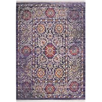 Safavieh Sutton Collection SUT402F Lavender and Ivory Runner (3 x 12)