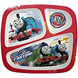 Zak! Designs 3-Section Plate featuring Thomas & Friends, Break-resistant and BPA-free Plastic