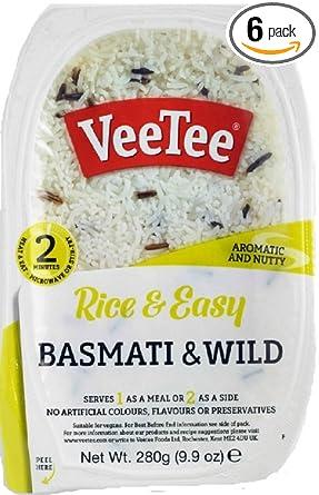 Veetee Dine In Rice - Basmati y arroz silvestre para ...
