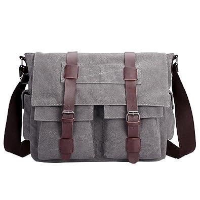 a24d6911d608 CTOOO Homme Sac à bandoulière Crossbody Mode tendance sac sauvage casual  Grand sac de toile