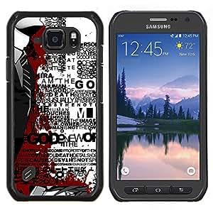 Caucho caso de Shell duro de la cubierta de accesorios de protección BY RAYDREAMMM - Samsung Galaxy S6Active Active G890A - Salpicón de la sangre Hombre en juego