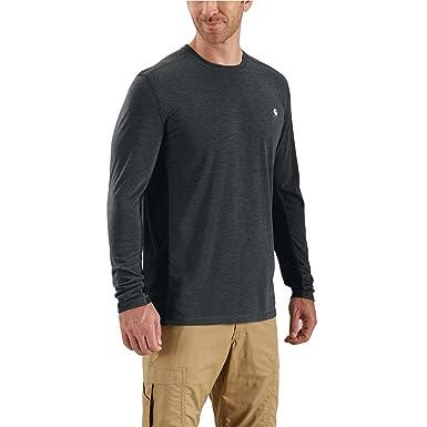 8b8622a1f7 Carhartt Men's 102998 Force Extremes Long Sleeve T-Shirt - Medium Regular -  Black/