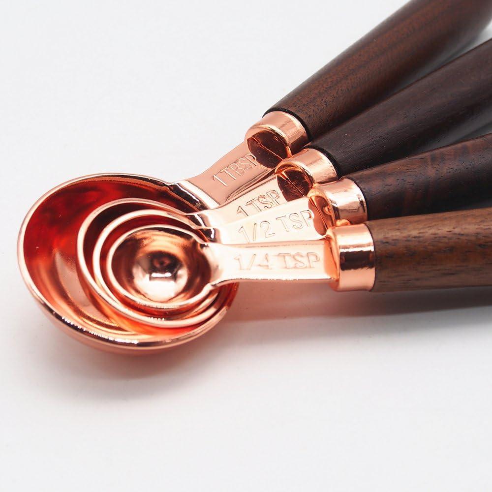 Twisted Griff Bar L/öffel Cocktail R/ührl/öffel 25cm Kosma Set 4 aus Edelstahl R/ührl/öffel mit Gabel Kupfer plattiert