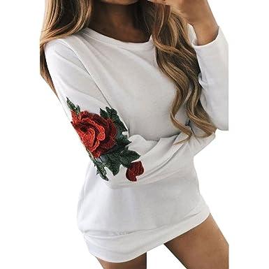 quality design c2fd7 2fd39 Elegante Damen Bluse Mumuj Frauen Slim Eng Weiß Lange Tops ...