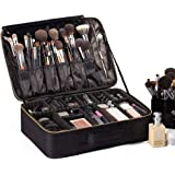 "ROWNYEON Makeup Bag Portable EVA Professional Makeup Case Makeup Artist Case Travel Makeup Train Case Makeup Artist Organiser Bag 16.14"" (Large, Black)"