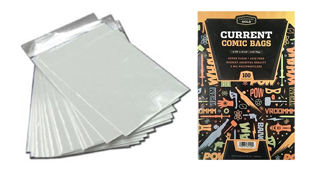 1000 CBG Current Comic Bags and Boards - ACID FREE WHITE - Archival Quality for protecting your Comic Books