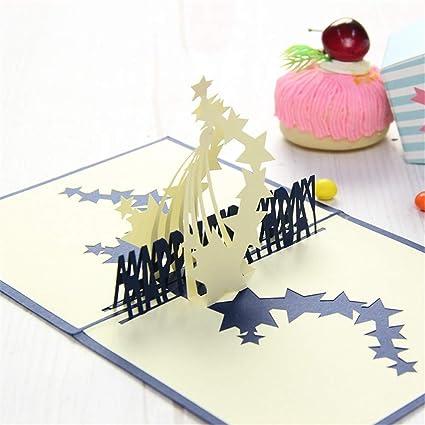 Andouy Pop Up Tarjeta 3D Tarjeta de felicitación Día de la ...