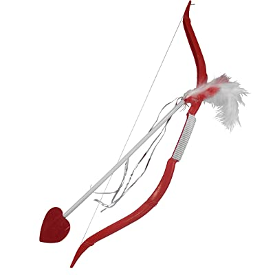 Cupids Bow and Arrow Costume Accessory Set, Red, One Size: Clothing